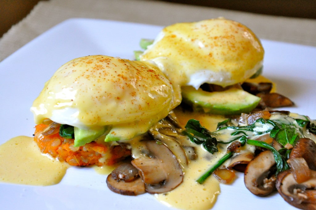 Chipotle Sweet Potato Eggs Benedict