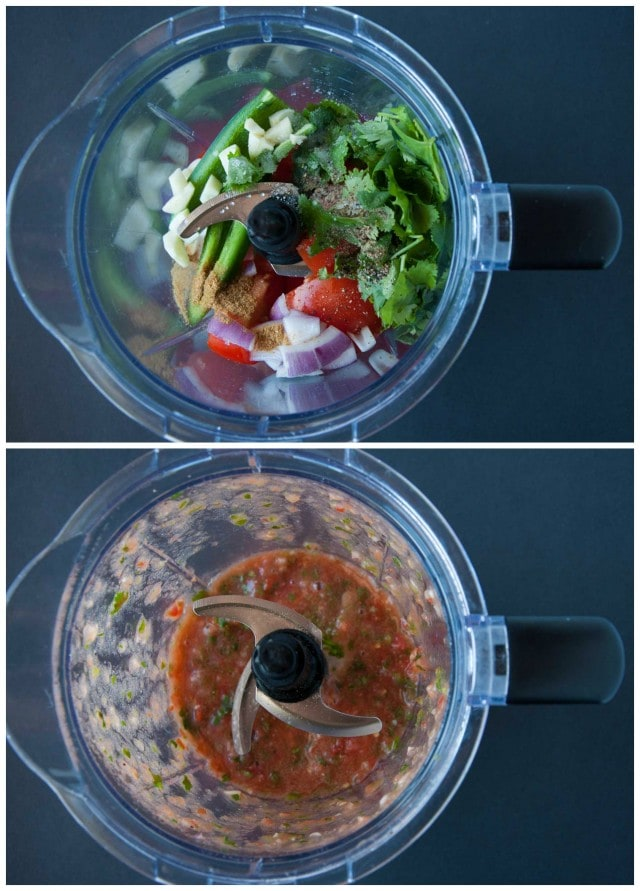 Fresh Blender Salsa Collage