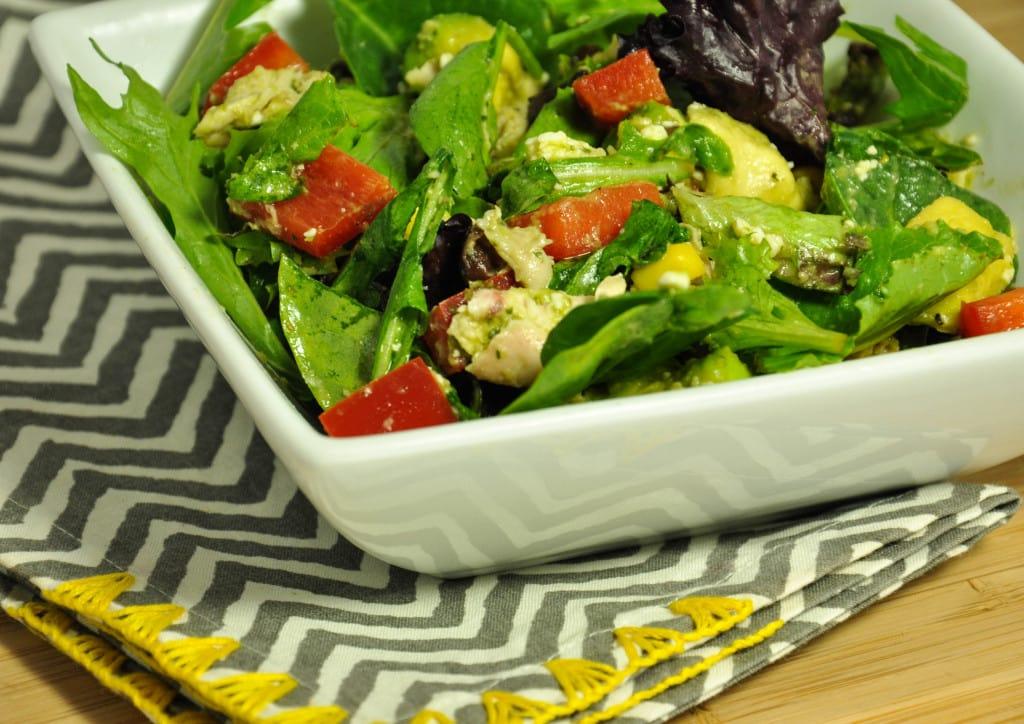 Salad with Jalapeño Lime Dressing-59
