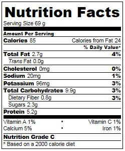 Cherry Almond Yogurt Protein Snack Nutrition Info