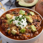 Turkey chili packed with veggies, protein, and flavor is the perfect light yet hearty recipe for cold winter nights. - Feasting Not Fasting