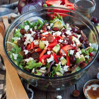 Green Salad with Curry Balsamic Dressing