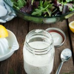 This delicious, creamy ranch dressing recipe is ready in 10 minutes for the perfect salad dressing or dipping sauce made healthier with yogurt!