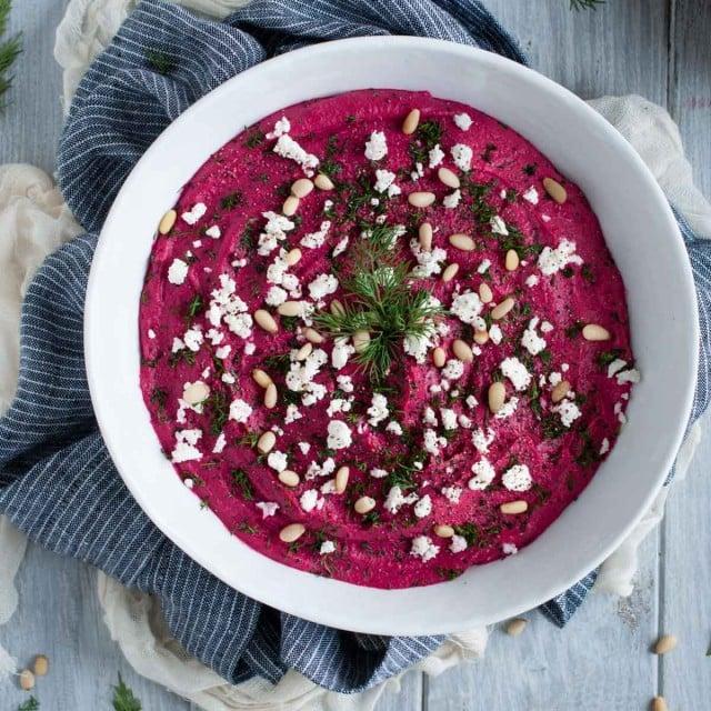Roasted Beet Hummus Recipe-7