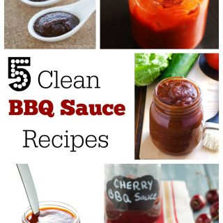 Clean BBQ sauce recipe made from scratch so you don't have to worry about the unhealthy ingredients in store bought sauces at your next barbecue.
