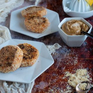 Sweet Potato Patties with Tahini Dipping Sauce
