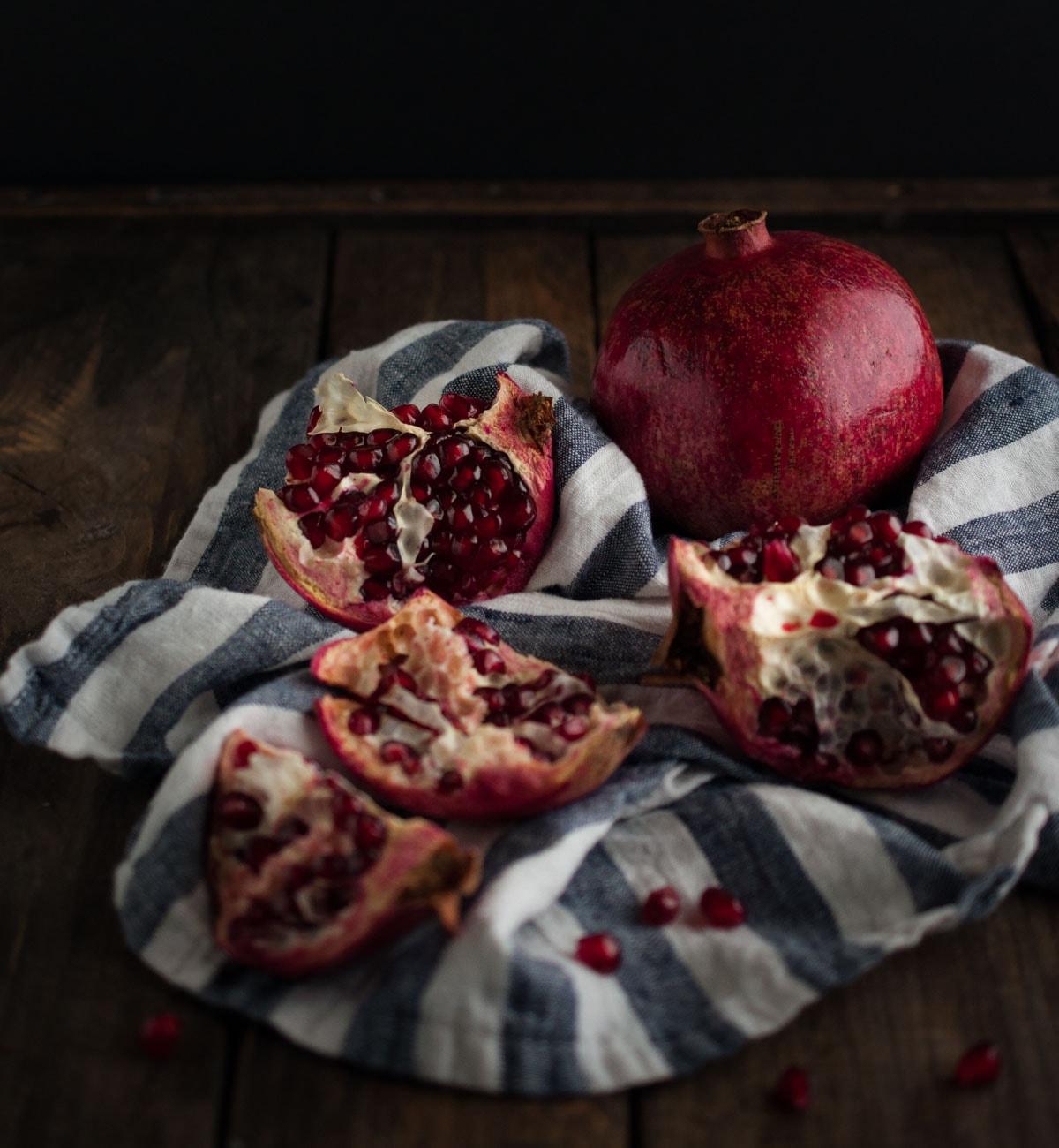 Dark Chocolate Pomegranate Bites - Feasting not Fasting