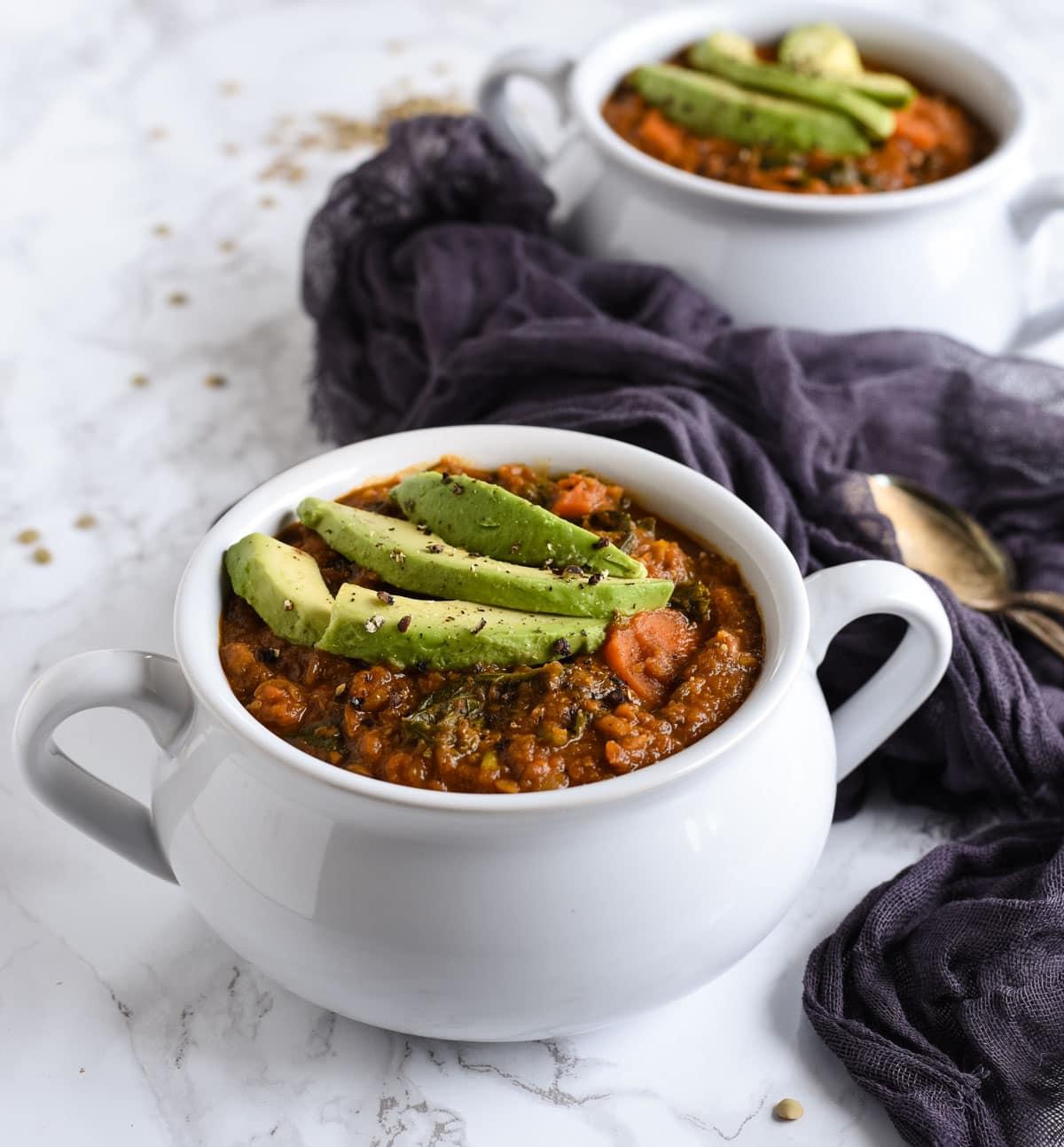 Vegan lentil soup picture