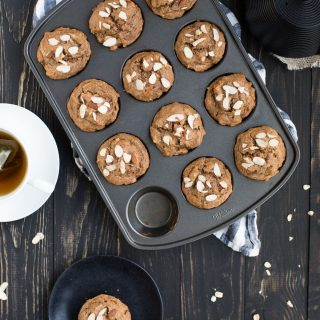 Banana Almond Butter Muffins with Oat Flour