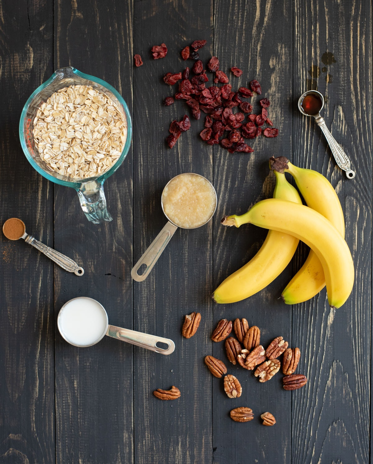 ingredients for Healthy banana oat cookies