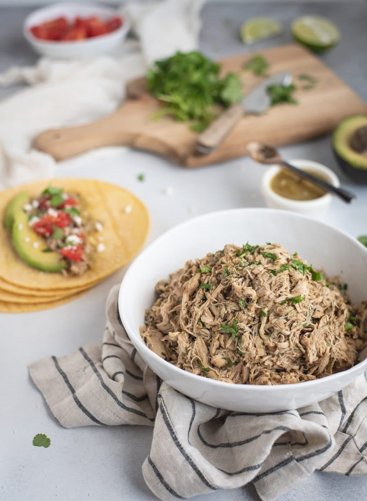 photo of bowl of Slow Cooker Cilantro Lime Chicken