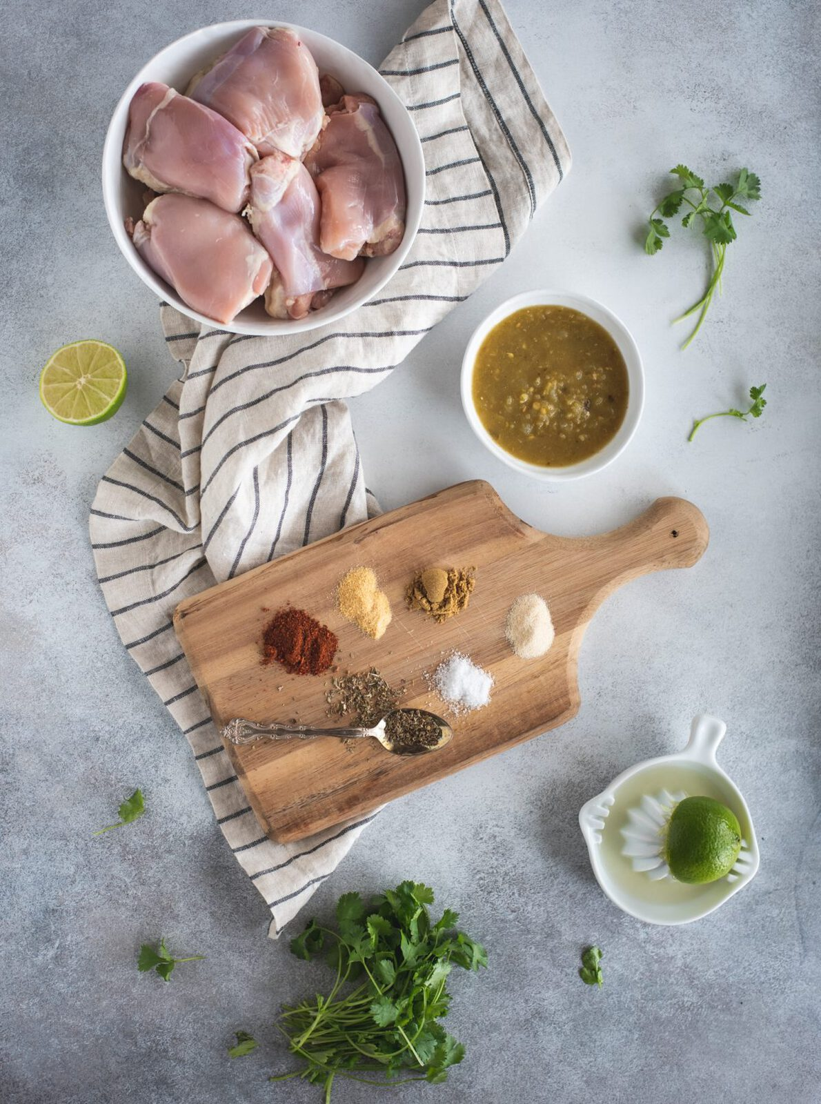 ingredient photo of slow cooker cilantro lime chicken